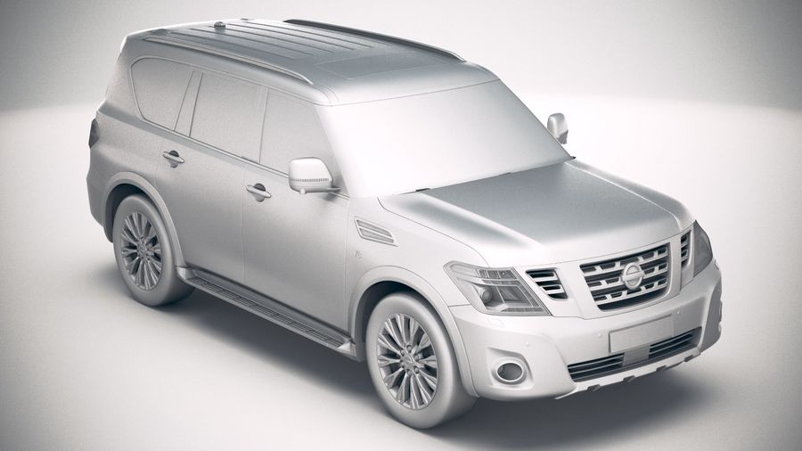 Nissan Patrol Y62 2019 royalty-free 3d model - Preview no. 22