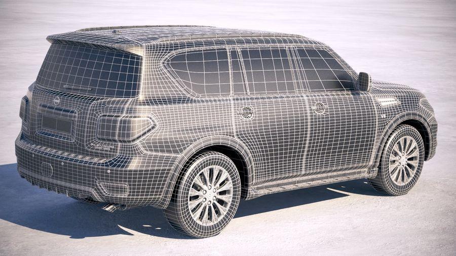 Nissan Patrol Y62 2019 royalty-free 3d model - Preview no. 28