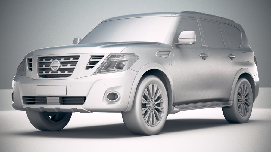 Nissan Patrol Y62 2019 royalty-free 3d model - Preview no. 23