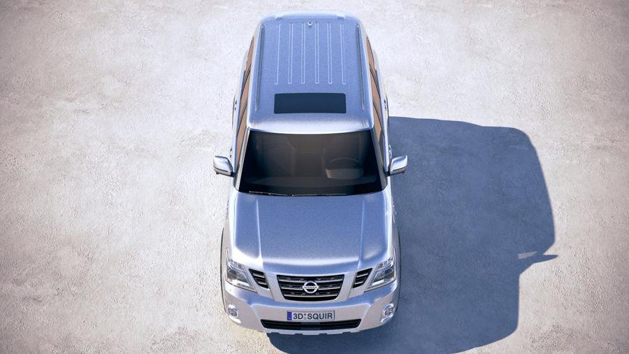 Nissan Patrol Y62 2019 royalty-free 3d model - Preview no. 9