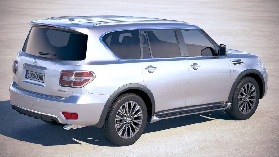 Nissan Patrol Y62 2019 royalty-free 3d model - Preview no. 3