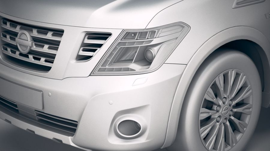 Nissan Patrol Y62 2019 royalty-free 3d model - Preview no. 19