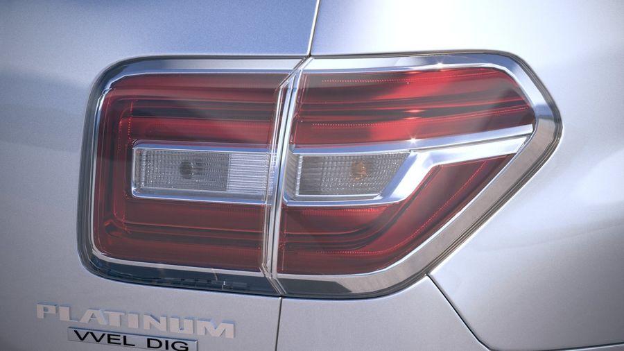 Nissan Patrol Y62 2019 royalty-free 3d model - Preview no. 17