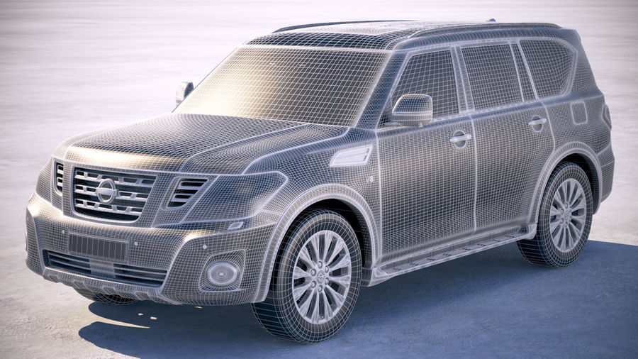 Nissan Patrol Y62 2019 royalty-free 3d model - Preview no. 25