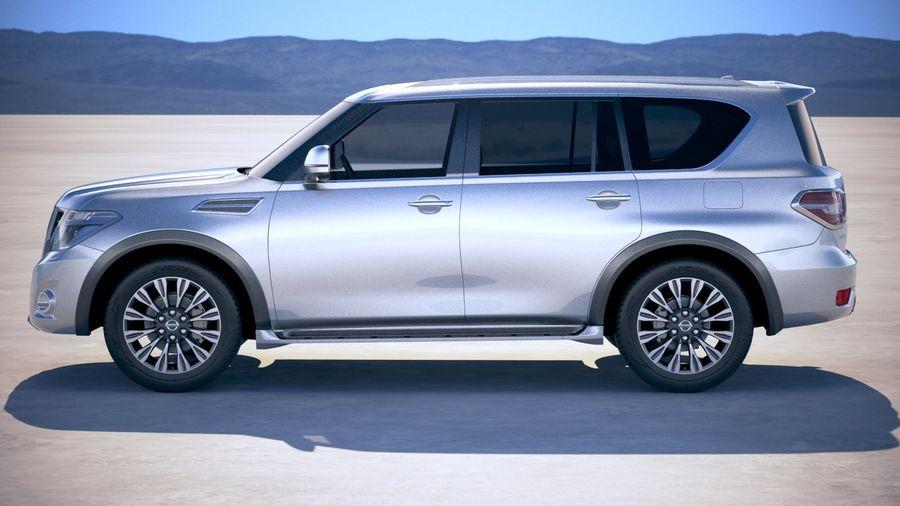 Nissan Patrol Y62 2019 royalty-free 3d model - Preview no. 7