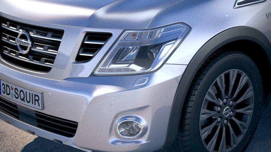 Nissan Patrol Y62 2019 royalty-free 3d model - Preview no. 4