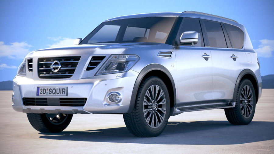 Nissan Patrol Y62 2019 royalty-free 3d model - Preview no. 13