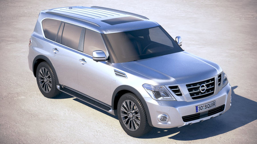 Nissan Patrol Y62 2019 royalty-free 3d model - Preview no. 12