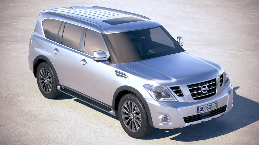 Nissan Patrol Y62 2019 royalty-free 3d model - Preview no. 12