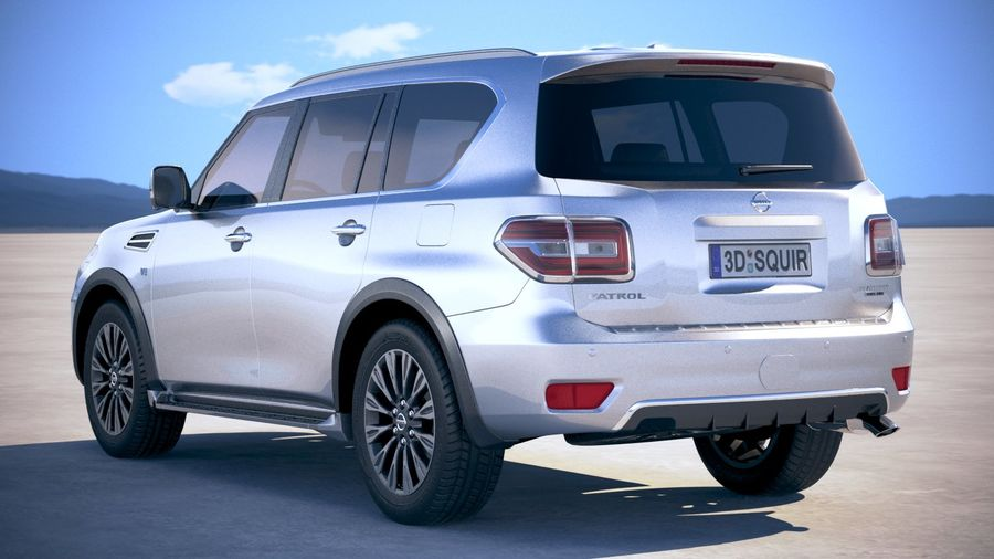 Nissan Patrol Y62 2019 royalty-free 3d model - Preview no. 14