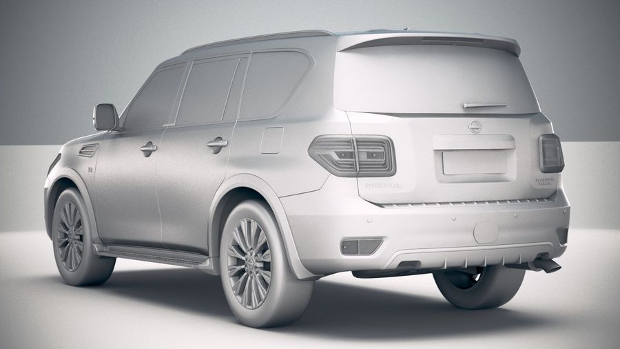 Nissan Patrol Y62 2019 royalty-free 3d model - Preview no. 24