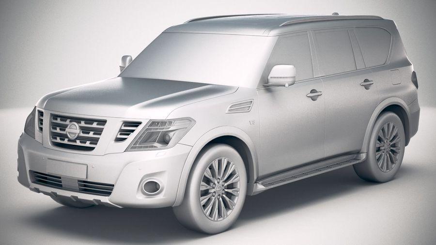 Nissan Patrol Y62 2019 royalty-free 3d model - Preview no. 18