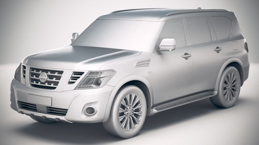 Nissan Patrol Y62 2019 royalty-free 3d model - Preview no. 18