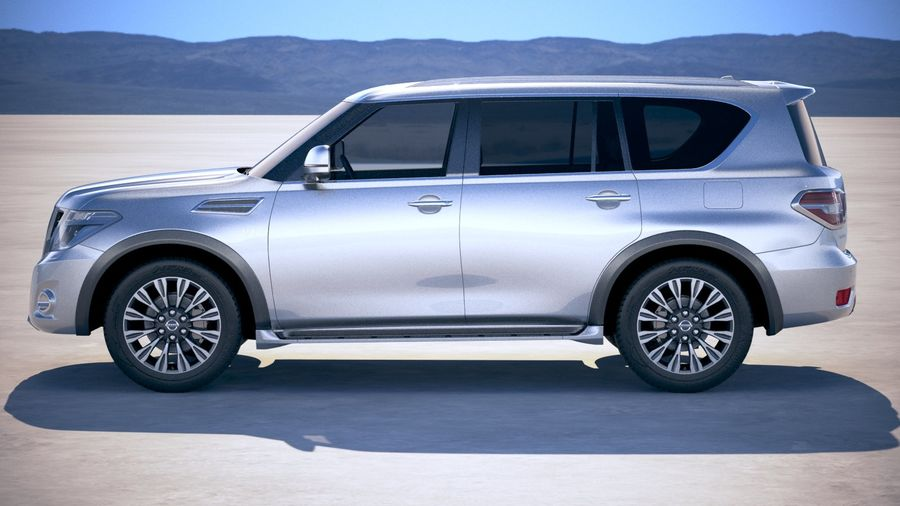 Nissan Patrol Y62 2019 royalty-free 3d model - Preview no. 7