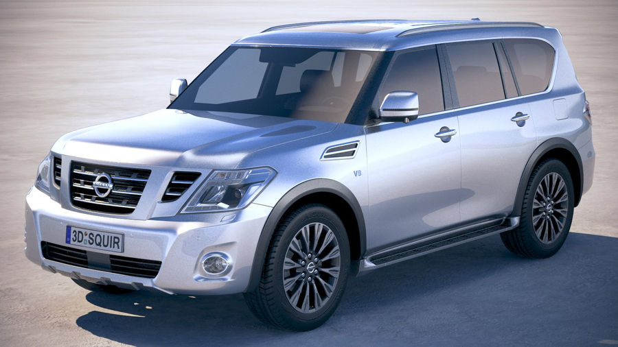 Nissan Patrol Y62 2019 royalty-free 3d model - Preview no. 1