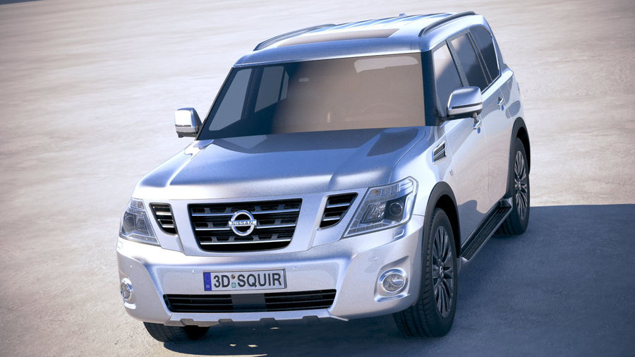 Nissan Patrol Y62 2019 royalty-free 3d model - Preview no. 2