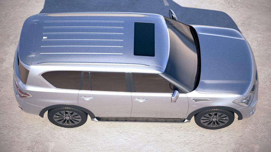 Nissan Patrol Y62 2019 royalty-free 3d model - Preview no. 8