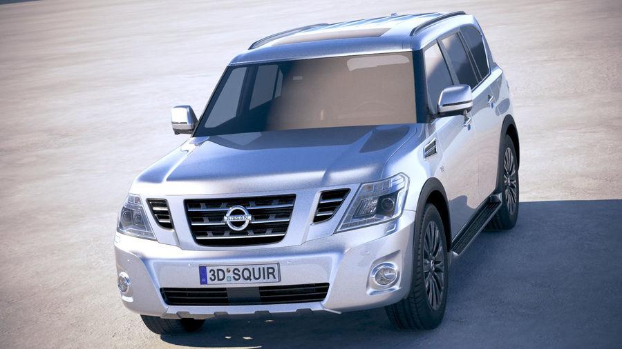 Nissan Patrol Y62 2019 royalty-free 3d model - Preview no. 2