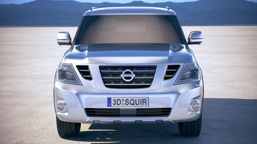 Nissan Patrol Y62 2019 royalty-free 3d model - Preview no. 10