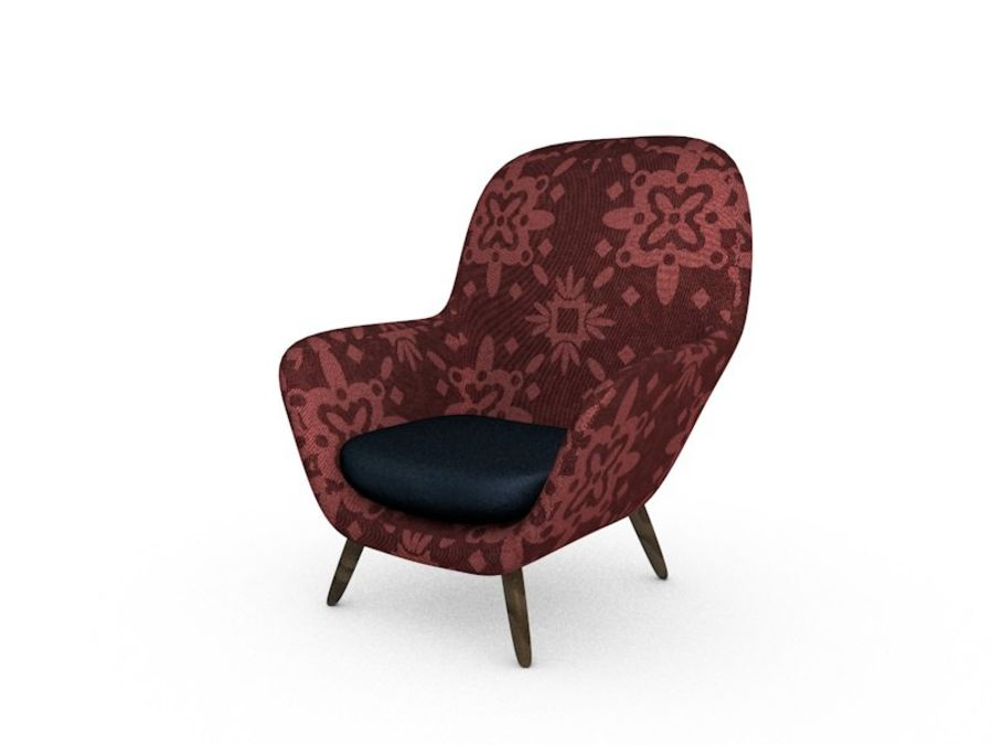 Sofa chair royalty-free 3d model - Preview no. 2