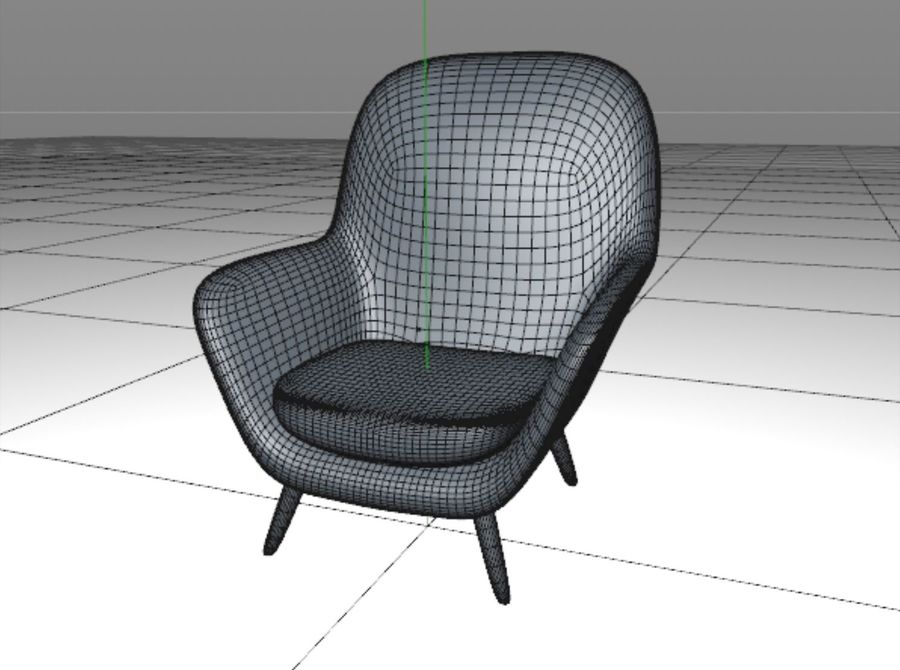 Sofa chair royalty-free 3d model - Preview no. 6