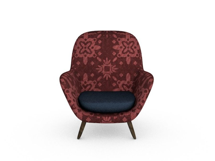 Sofa chair royalty-free 3d model - Preview no. 1