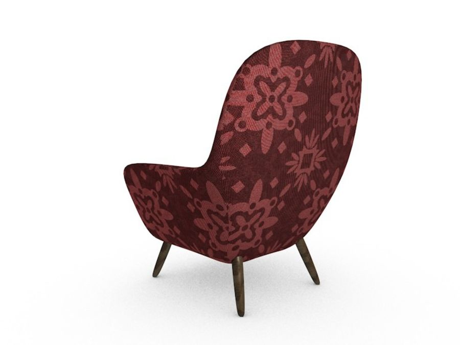 Sofa chair royalty-free 3d model - Preview no. 3