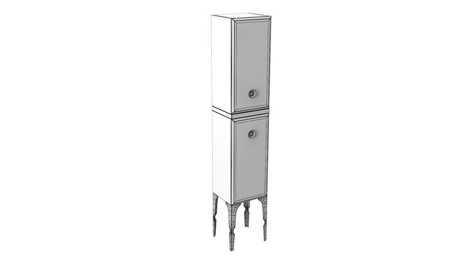 Milldue Bathroom Cabinet royalty-free 3d model - Preview no. 5