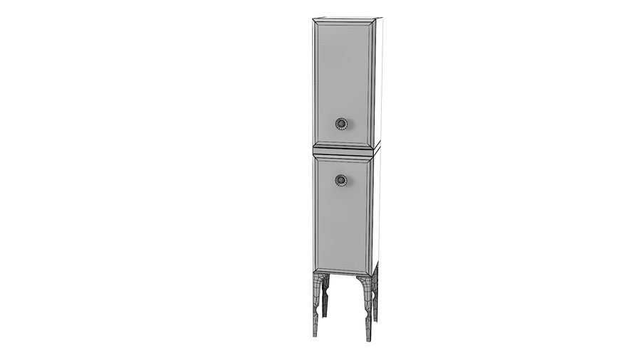 Milldue Bathroom Cabinet royalty-free 3d model - Preview no. 4
