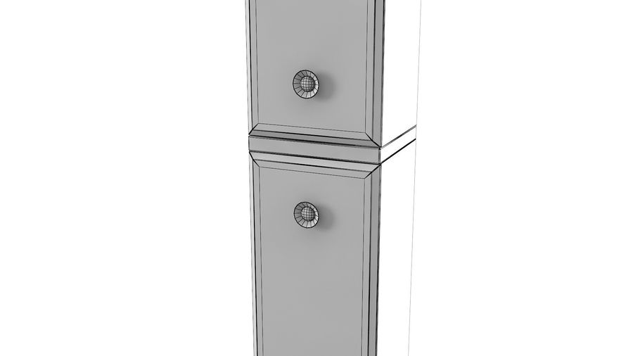 Milldue Bathroom Cabinet royalty-free 3d model - Preview no. 6