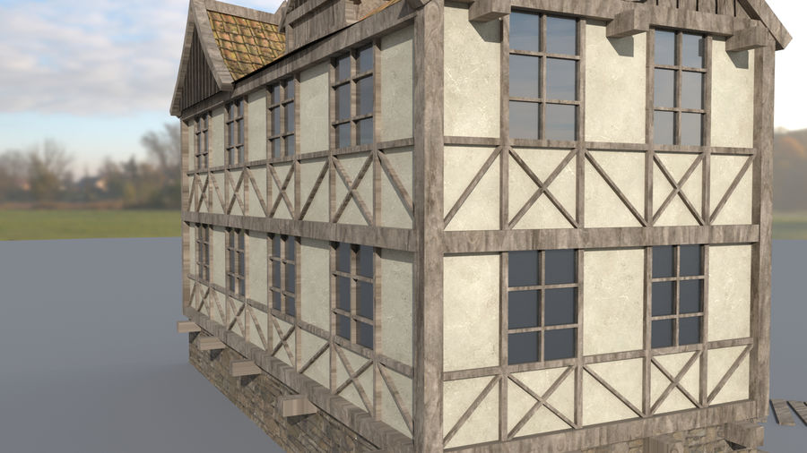 Fantasy house royalty-free 3d model - Preview no. 9