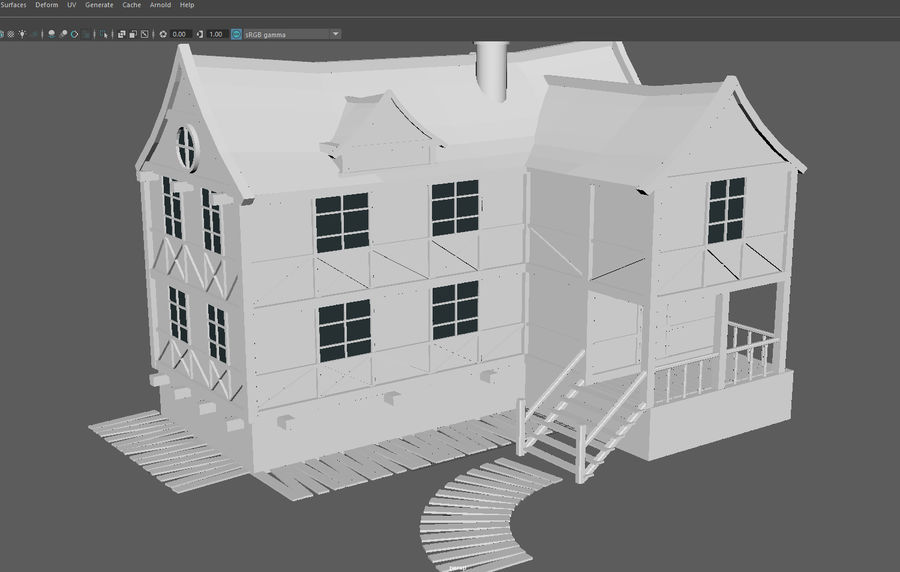 Fantasy house royalty-free 3d model - Preview no. 13
