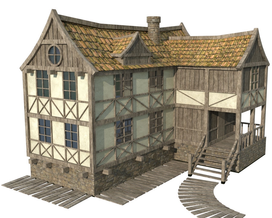 Fantasy house royalty-free 3d model - Preview no. 1
