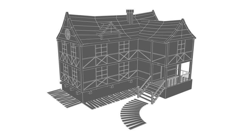 Fantasy house royalty-free 3d model - Preview no. 10