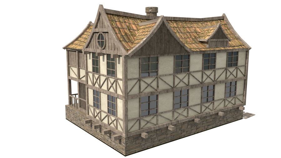 Fantasy house royalty-free 3d model - Preview no. 4