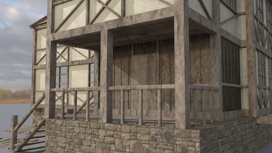 Fantasy house royalty-free 3d model - Preview no. 8