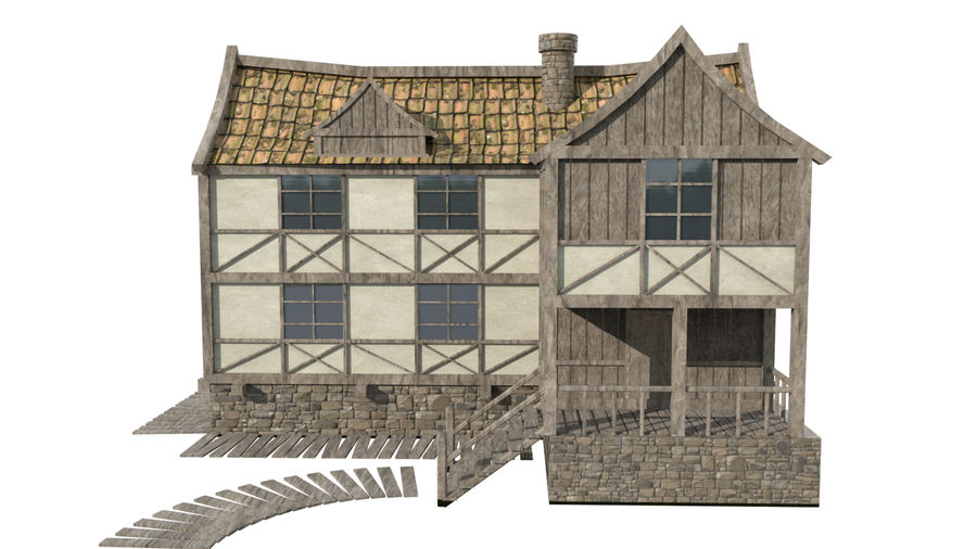 Fantasy house royalty-free 3d model - Preview no. 2