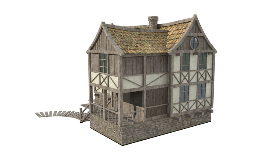 Fantasy house royalty-free 3d model - Preview no. 3