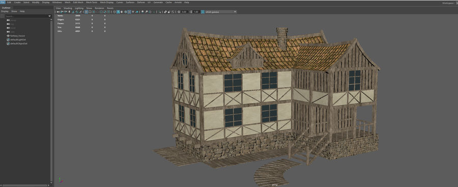 Fantasy house royalty-free 3d model - Preview no. 12