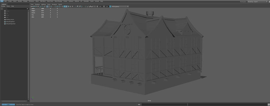 Fantasy house royalty-free 3d model - Preview no. 11