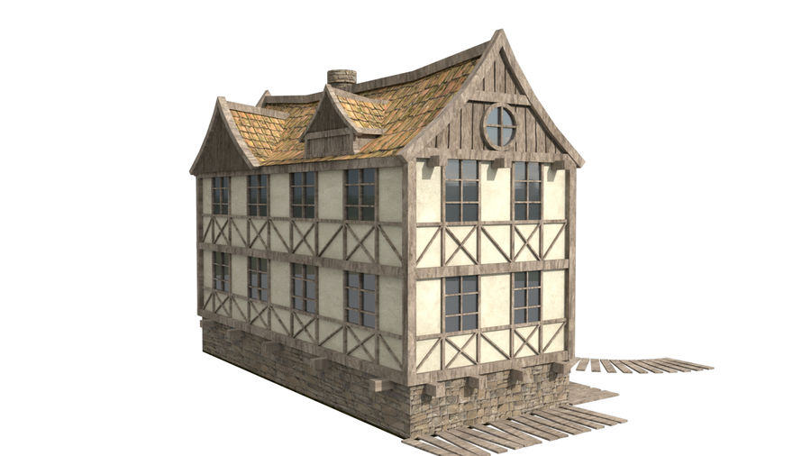 Fantasy house royalty-free 3d model - Preview no. 5
