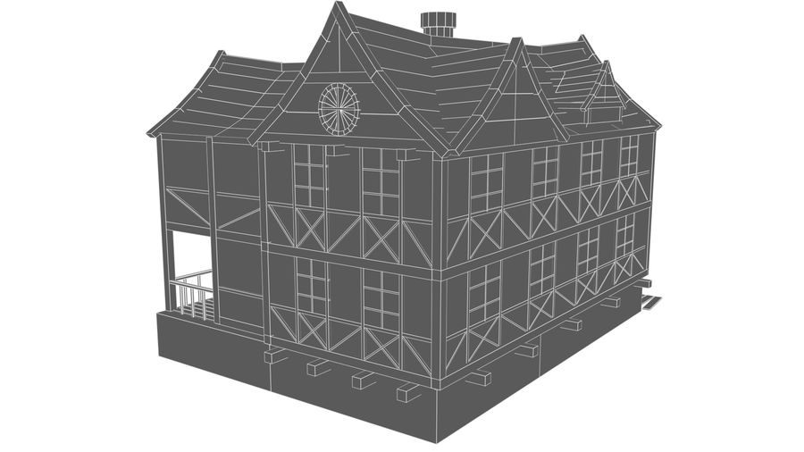Fantasy house royalty-free 3d model - Preview no. 14