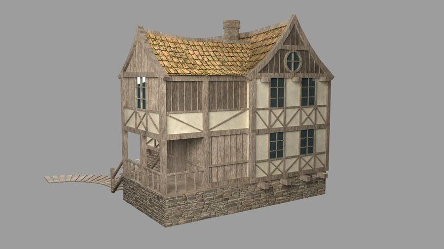 Dom fantasy royalty-free 3d model - Preview no. 4