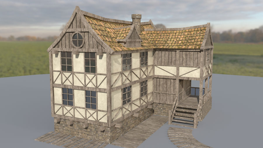Fantasy house royalty-free 3d model - Preview no. 6