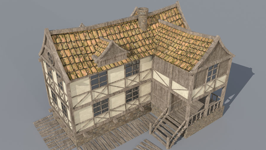 Fantasy house royalty-free 3d model - Preview no. 7