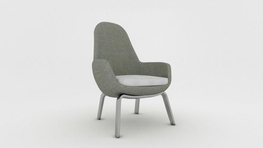 Krzesło Sofa royalty-free 3d model - Preview no. 3