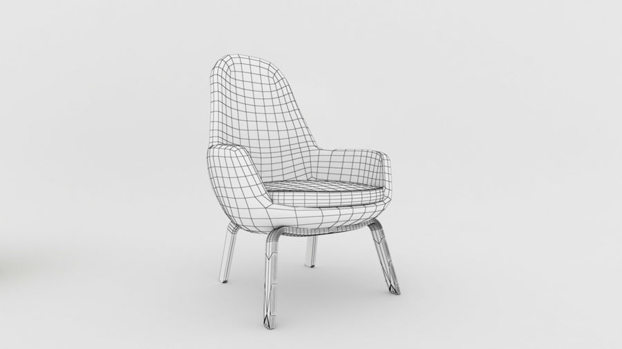 Sofa stoel royalty-free 3d model - Preview no. 7