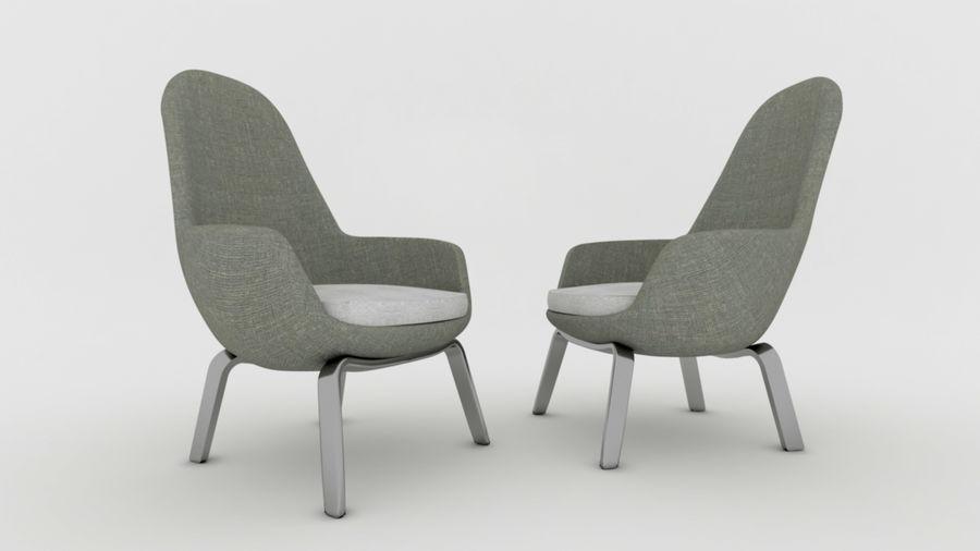 Krzesło Sofa royalty-free 3d model - Preview no. 2