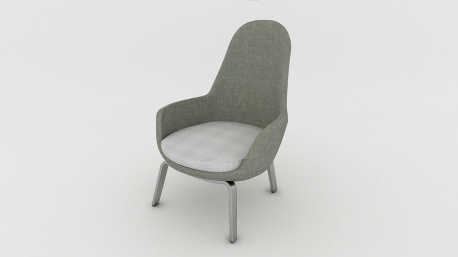 Sofa Chair royalty-free 3d model - Preview no. 4