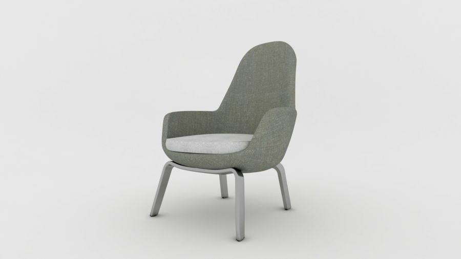 Krzesło Sofa royalty-free 3d model - Preview no. 1